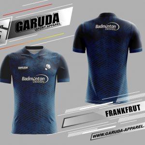 Desain Kaos Badminton Printing Frankfrut Warna Biru Dongker Yang Elegant