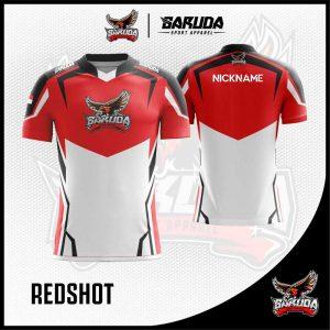 Desain Baju Gaming Redshot Warna Merah Putih Paling Keren ...