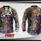 Desain Baju Sepeda Downhill Hobs Motif Karakter Lucu