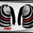 Desain Baju Sepeda Downhill Spiral Motif Melengkung
