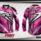 Desain Baju Sepeda MTB Amadine Warna Pink