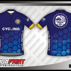 Desain Baju Sepeda Road Bike Hexagon Model Terbaru
