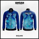 Desain Jaket Printing Warna Biru Motif Kotak Kotak Kekinian
