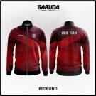 Desain Jaket Printing Warna Merah Hitam Tampil Lebih Gagah