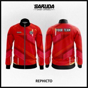 Desain Jaket Printing Warna Merah Minimalis Paling Keren