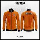 Desain Jaket Printing Warna Orange Minimalis