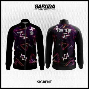 Desain Jaket Printing Warna Ungu Hitam Paling Trendy