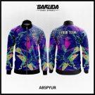 Desain Jaket Printing Warna Ungu Motif Bintang Terkeren