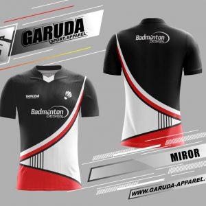 Desain Jersey Badminton Miror Motif Bergelombang Yang Menawan