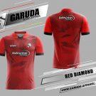 Desain Jersey Badminton Red Diamond Warna Merah Terbaru