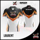Desain Jersey Gaming Laurent Warna Hitam Putih Terkeren