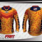 Desain Jersey Sepeda BMX Batfly Warna Orange Terbaru