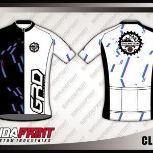Desain Jersey Sepeda Gowes Clambelt Warna Hitam Putih