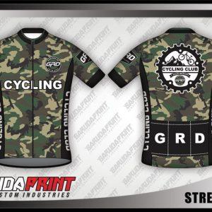 Desain Jersey Sepeda Gowes Street Army Motif Loreng