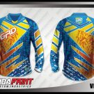 Desain Jersey Sepeda Gunung MTB Ventura Biru Kuning Paling Keren