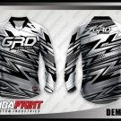 Desain Jersey Sepeda MTB Demondro Motif Zig Zag Paling Keren