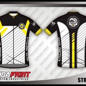 Desain Jersey Sepeda Roadbike Streetline Warna Hitam Putih