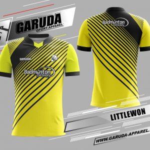 Desain Kaos Badminton Printing Littlewon Warna Kuning