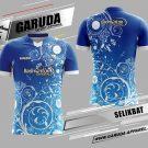 Desain Kaos Badminton Printing Selikbat Warna Biru Motif Batik