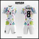 Desain Kaos Futsal Full Print Colorio Warna Putih Yang Trendy