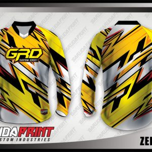 Desain Kaos Sepeda Downhill Zedblazh Motif Zig Zag Warna Cerah