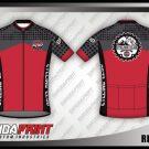 Desain Kaos Sepeda Gowes Redstone Warna Merah Abu-Abu Terbaru