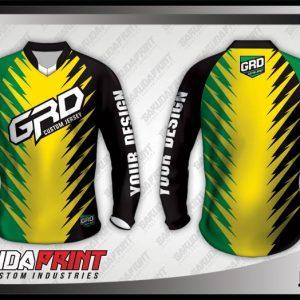 Desain Kaos Sepeda MTB Jamaca Warna Hitam Kuning Hijau Yang Trendy
