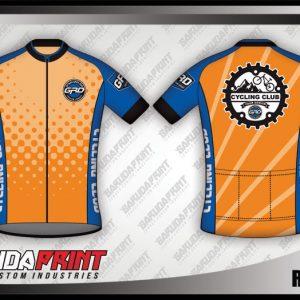 Desain Kaos Sepeda Roadbike Reamor Warna Orange Cerah