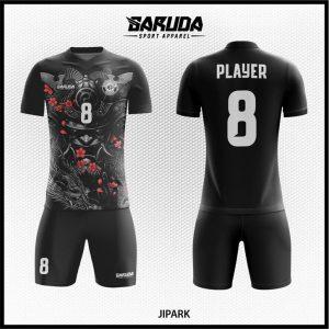 Desain Kostum Futsal Jipark Warna Hitam Misterius