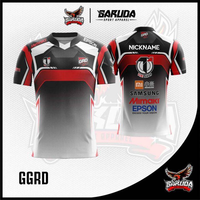 Desain Kostum Gaming Esport GGRD Warna Hitam Terbaru