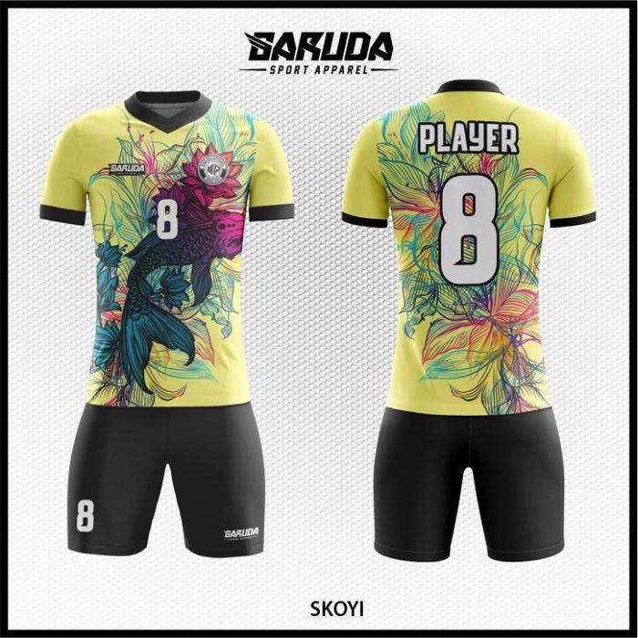 Desain Kostum Sepakbola Skoyi Motif Bunga Tampil Anggun
