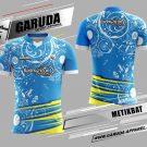 Desain Seragam Badminton Printing Metikbat Motif Batik Warna Biru