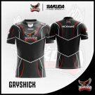 Desain Jersey Gaming Gryshick Warna Hitam Abu Abu Soulid