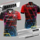 Desain Baju Badminton Raizho Warna Hitam Merah Tampil Memukau