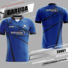 Desain Baju Badminton Zonky Warna Biru Minimalis