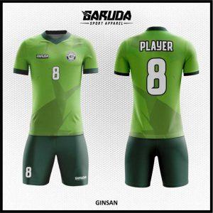 Desain Baju Futsal Ginsan Warna Hijau Yang Dinamis