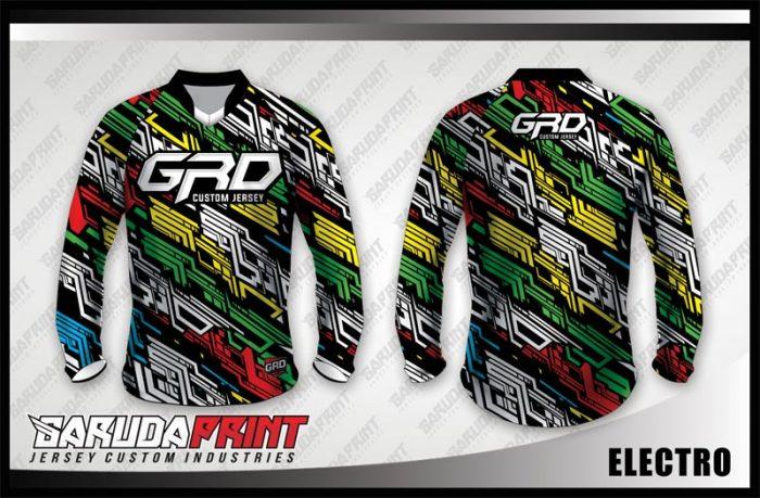 Desain Baju Sepeda Downhill Electro Tampil Lebih Cool