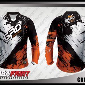 Desain Baju Sepeda Downhill Grungemix Warna Hitam Putih Coklat Terbaru