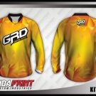 Desain Baju Sepeda MTB Kit Crash Gradasi Warna Kuning Berkilau