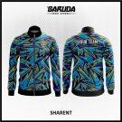 Desain Jaket Printing Motif Zig Zag Warna Biru Tampil Beda