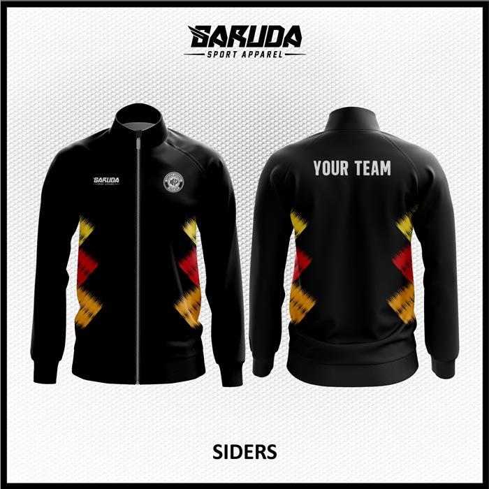Desain Jaket Printing Warna Hitam Minimalis Super Macho