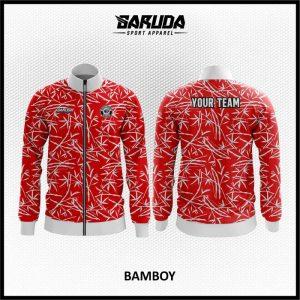 Desain Jaket Printing Warna Merah Yang Trendy