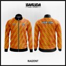 Desain Jaket Printing Warna Orange Motif Zig Zag Terbaru