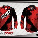 Desain Jersey Sepeda Downhill Redblack Warna Merah Hitam