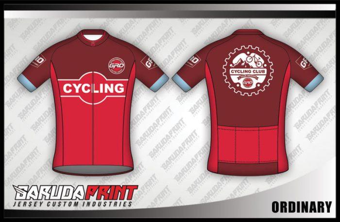 Desain Jersey Sepeda Gowes Ordinary Warna Merah Super Keren