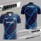 Desain Kaos Badminton Absolum Warna Biru Dongker Paling Keren