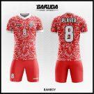 Desain Kaos Futsal Bamboy Warna Merah Cerah