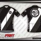Desain Kaos Sepeda Gowes Diagonal Stripes Simple Tapi Keren