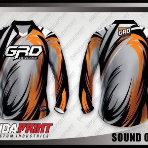 Desain Kaos Sepeda MTB Sound Of Soul Motif Bergelombang Paling Keren