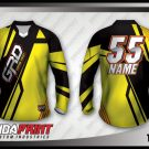 Desain Kaos Sepeda MTB Thefast Warna Kuning Hitam Yang Macho
